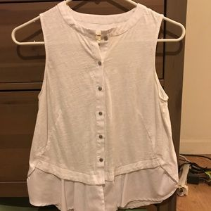 Button down tank top